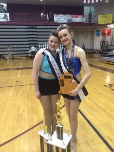 Izzy~2014 Preteen Miss Majorette of MI Royalty & Amanda~2014 Preteen Miss Majorette of MI